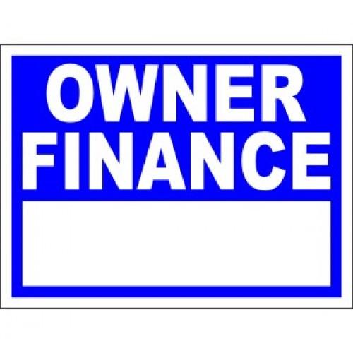 Finance Sign: Owner Finance